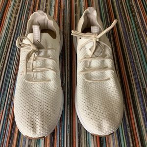 Reef Cruiser Knit White Lace Up Sneakers Sz 7 EUC